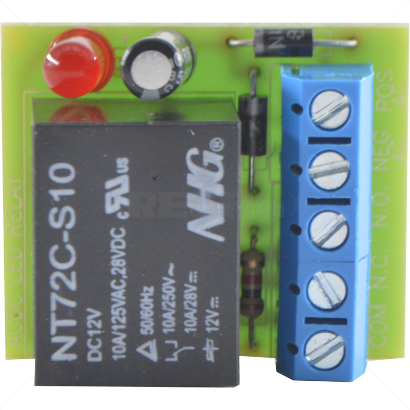 Relay - On-board Single Pole AC/DC
