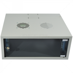 4U 300 + 200mm Collar Swing Frame Wall Box incl Fans and Power - GREY