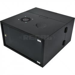 6U Swingframe Wallbox - 600mm Deep Incl Fan and 5-Way 3m Power Lead