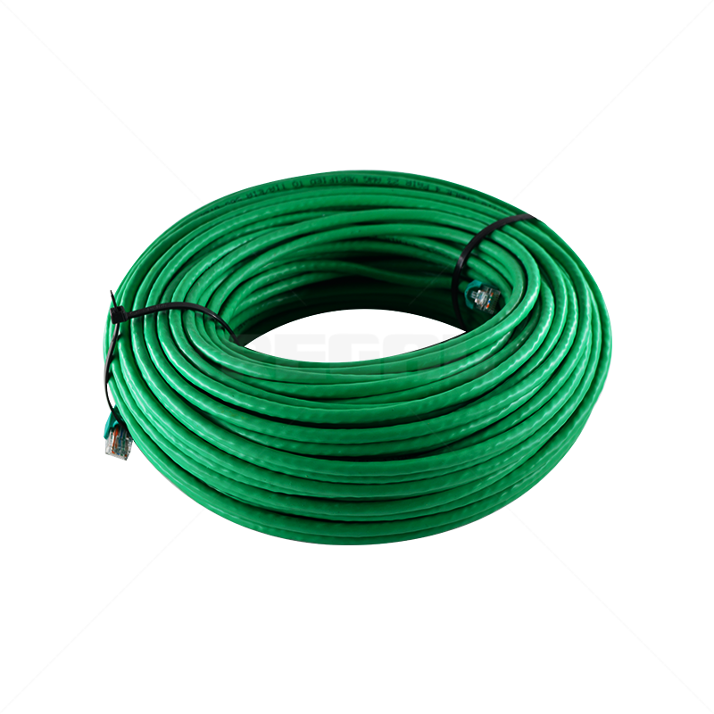 Cable - CAT6e Fly lead 60m Copper Solid - Green