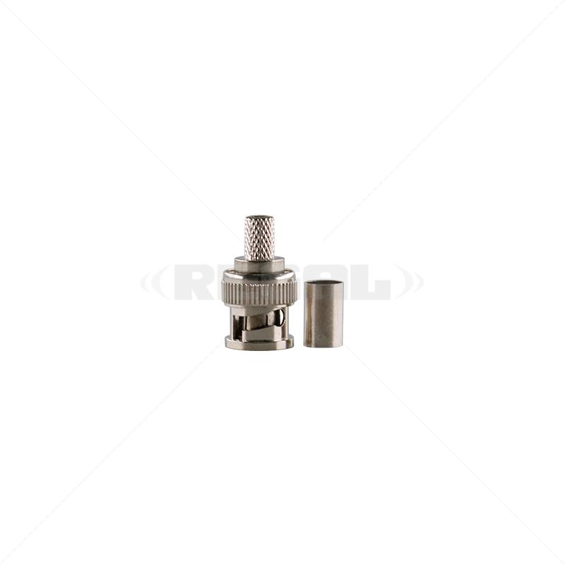BNC - Crimp Plug 6mm Male