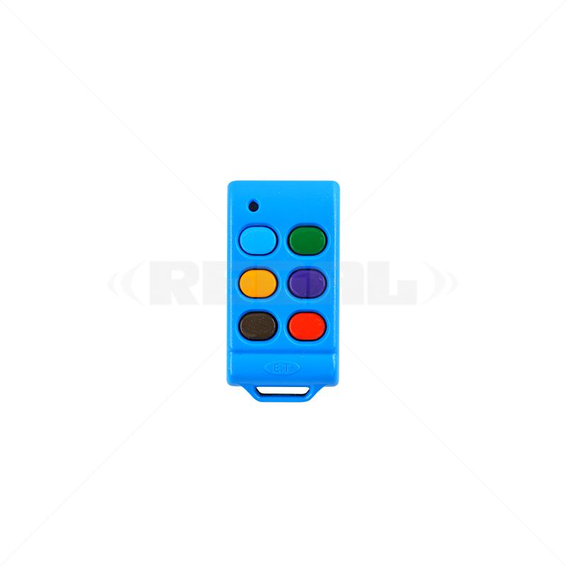 ET Tx 6 Button - Blu-Mix Rolling Code (434)