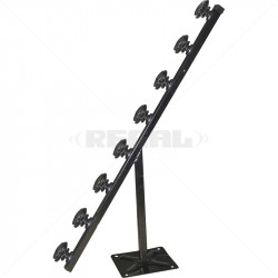 Fence Pole - 8Line TPole Black with Shield Insulator