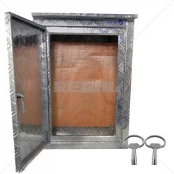 ENCLOSURE - Aluminium Tread Plate Box 610 x 800 x 300mm