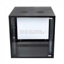 12U Swingframe Wallbox - 600mm Deep Incl Fan and 5-Way 3m Power Lead