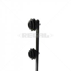 Fence Pole - 6Line Flat Bar Straight Black