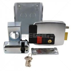 CISA Electric Rim Gate Lock Inward Open RHS with Push Button 12VAC