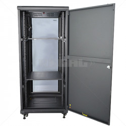27U 600 + 800 Floor standing Cabinet incl Fans and Power Black