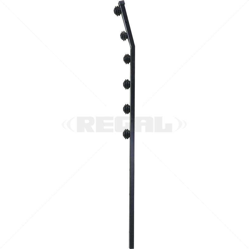 Fence Pole - 6Line Square Tube Golf Black