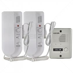 KOCOM - 1-2 Audio Intercom Kit 220VAC - Metal Gate Station