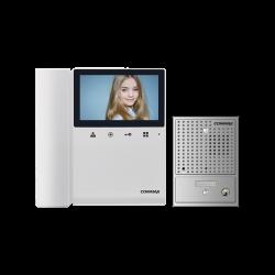 Commax Expandable Colour Video Intercom Kit with Pinhole Gate Station