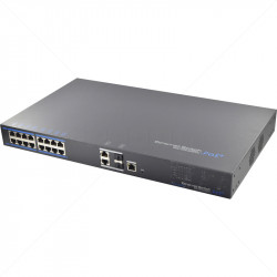 UTEPO 16 Port 10/100 Managed  PoE  + 2 Gb TP + 2 Gb SFP Uplink Switch