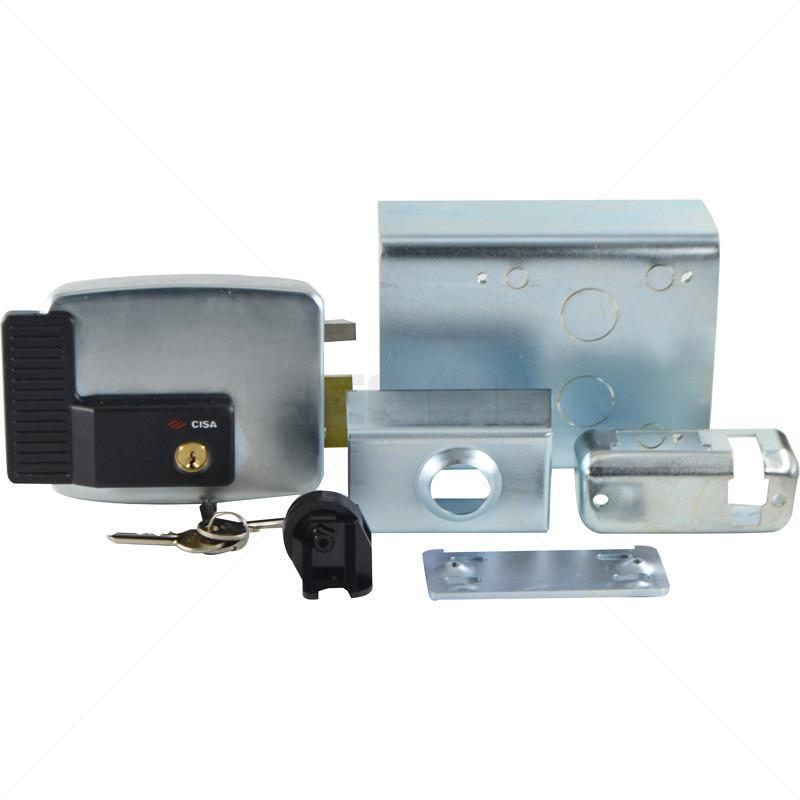 CISA Electric Rim Gate Lock Inward Open RHS no Push Button 12VAC