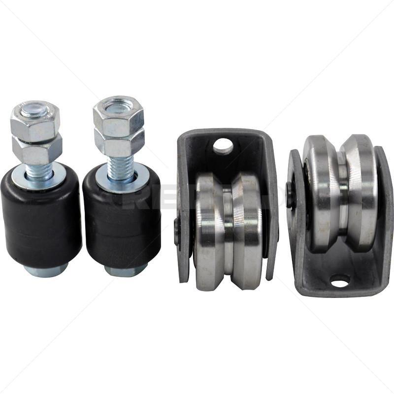 Gate Wheel Kit - 60mm - V-Profile