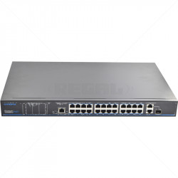 UTEPO 24 Port 10/100  PoE + 2 Gb TP + 1Gb SFP Combo Uplink Switch