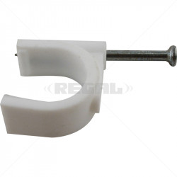 PVC Saddle Round with Nail - 20mm / 25
