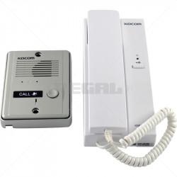 KOCOM - 1-1 Audio Intercom Kit Metal Gate Station 6/12VDC Dual Voltage