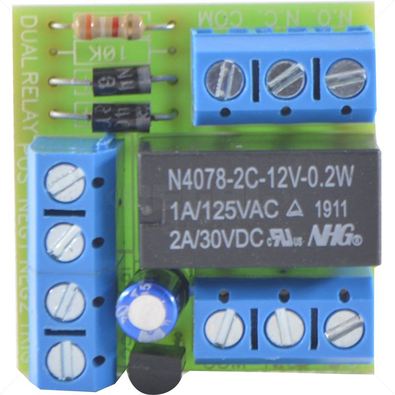 Relay - On-board Double Pole AC/DC