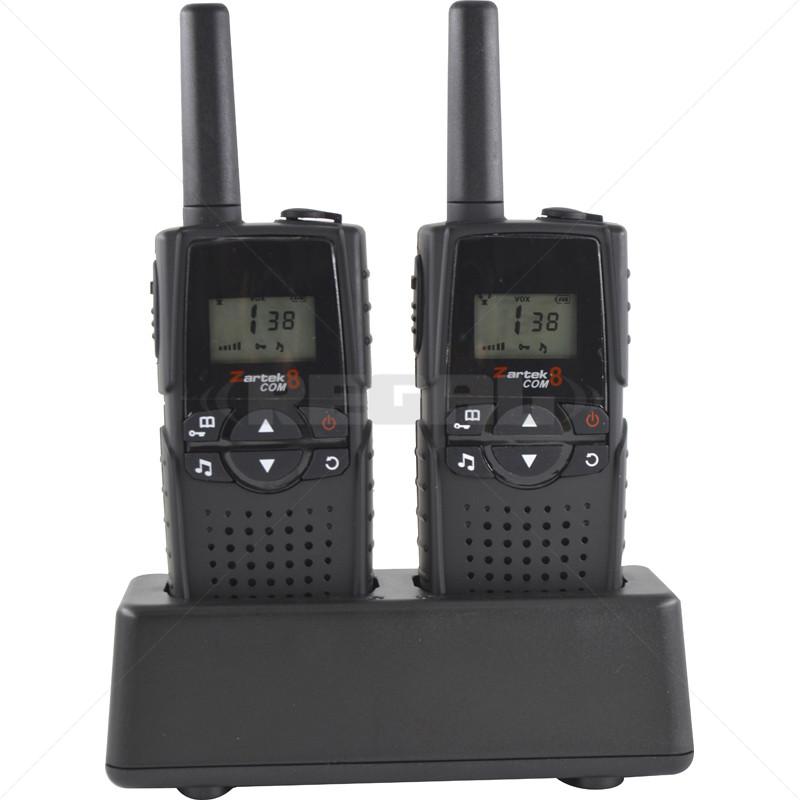 Zartek COM8 - 2 Way Radio Twin Pack Kit