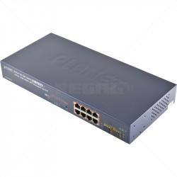 PLANET 8 Port  Gigabit Managed PoE + 2 Shared SFP Uplink Switch