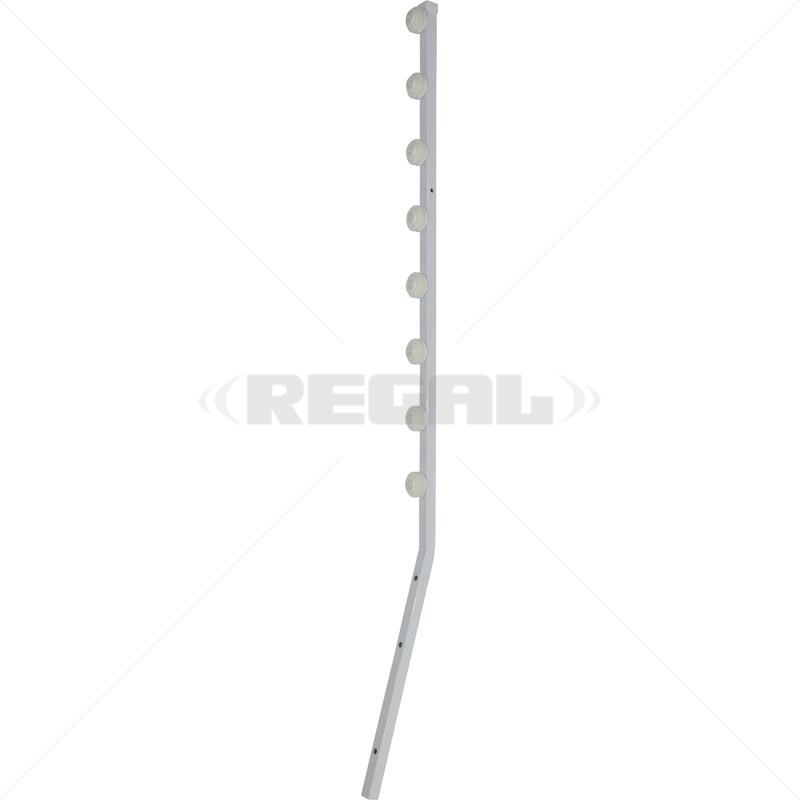 Fence Pole - 8Line Square Tube Angled White
