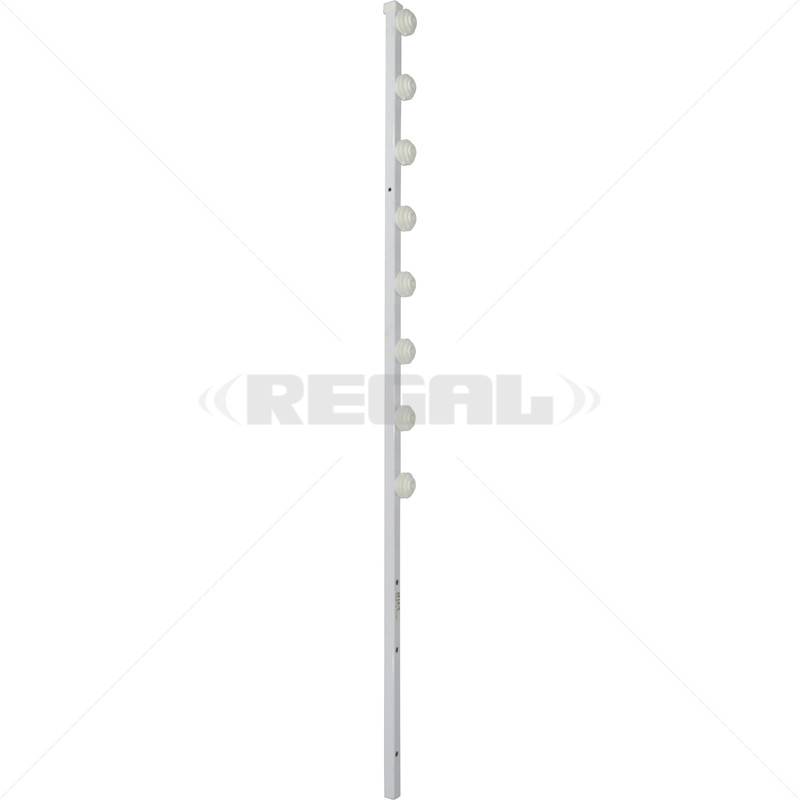 Fence Pole - 8Line Square Tube Straight White
