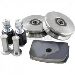 Gate Wheel Kit - 100mm V-Profile