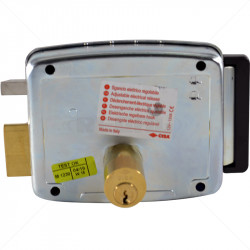 CISA Electric Rim Gate Lock Outward Open RHS no Push Button 12VAC