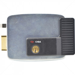 CISA Electric Rim Gate Lock Outward Open LHS no Push Button 12VAC