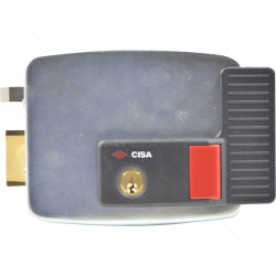 CISA Electric Rim Gate Lock Outward Open LHS with Push Button 12VAC