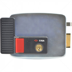 CISA Electric Rim Gate Lock Outward Open RHS with Push Button 12VAC
