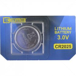 BATT - Lithium 3V CR2025 20mm