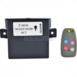 Sentry - 220V Light 2Ch Receiver Transmitt Incl 1 x 4 Butt Tx (433.92)