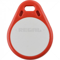 Proximity Tag - SS Keyring Red / White