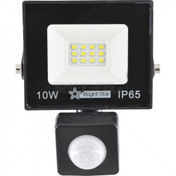 10 Watt LED Floodlight with Sensor 6000K 500 Lumins 30s Timer