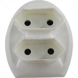 Adaptor - 3 Pin to 2 x 2Pin Euro Adaptor