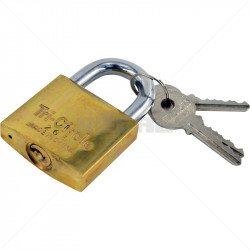 Padlock - TriCircle 50mm Brass