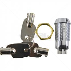 Keyswitch - Momentary Double Pole Key Alike - 3027