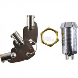Keyswitch - Momentary Double Pole Key Alike - 3026