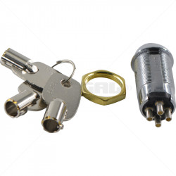 Keyswitch - Momentary Double Pole Key Alike - 3029