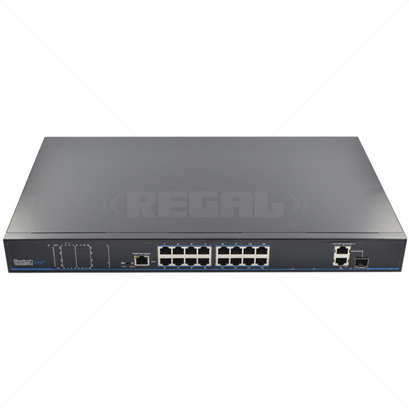 UTEPO 16 Port 10/100 PoE  + 2 Gb TP + 1Gb SFP Uplink Switch
