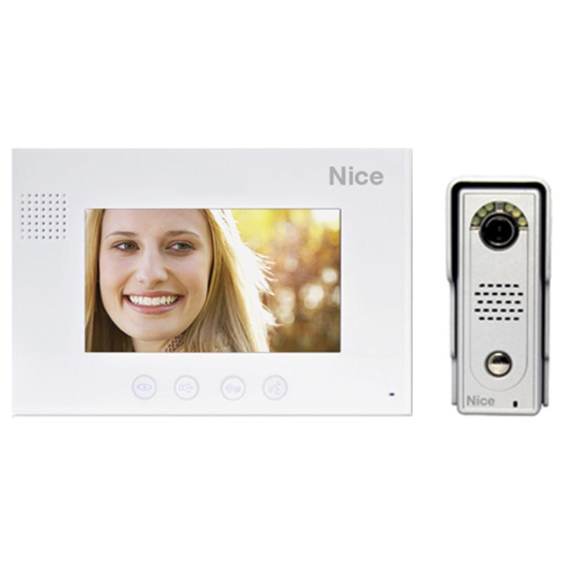 "NICE 7"" Colour Video Intercom Kit incl Die Cast Aluminium Gate Station"