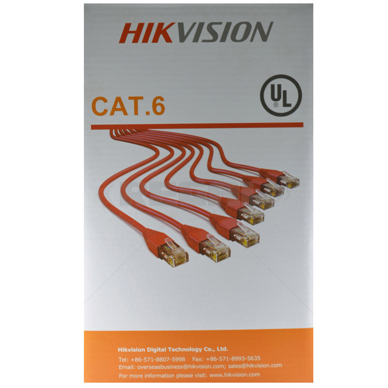 HIKVISION UTP (4-Pair) CAT 6 - 305m Roll - Orange PVC Sheath