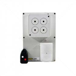 SMS Alert Standalone Alarm Kit - 1 PIR Sounder 3Ch Rx 8 User