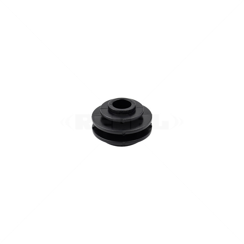 Insulator - 4mm Black Flat Bar