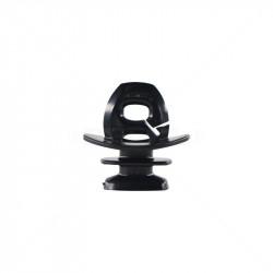 Insulator - Jurassic - Black 6.2mm Slotted
