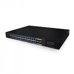 UTEPO 24 Port Gigabit Managed PoE + 4 Gb SFP Uplink Switch