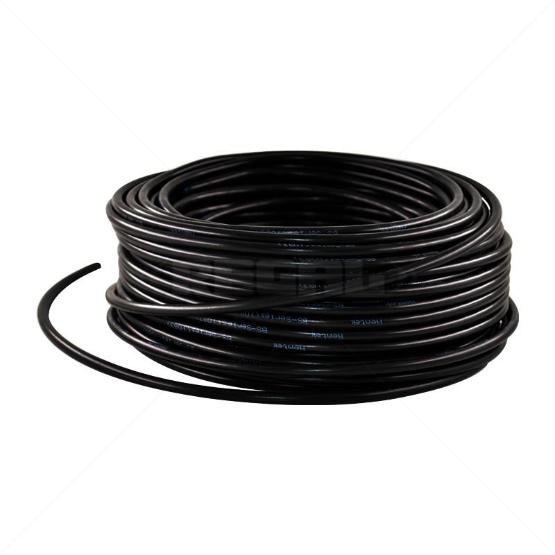HT Cable - Aluminium Solid - Black / 100m