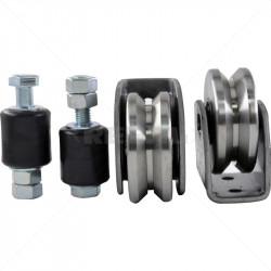 Gate Wheel Kit - 80mm  - V-Profile