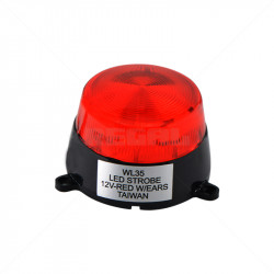 Mini Red LED Strobe 12VDC